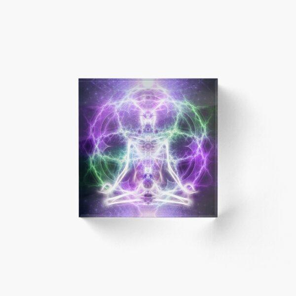 Merkaba Meditator Acrylic Block