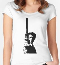 Clint Eastwood as Dirty Harry | Cult Movie Women's Fitted Scoop T-Shirt