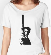 Clint Eastwood as Dirty Harry   Cult Movie Women's Relaxed Fit T-Shirt