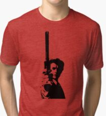 Clint Eastwood as Dirty Harry | Cult Movie Tri-blend T-Shirt