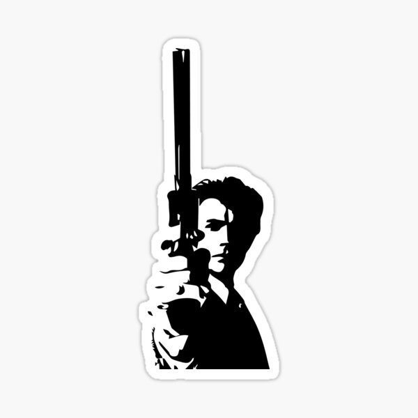 Clint Eastwood as Dirty Harry | Cult Movie Sticker