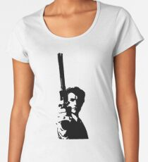 Clint Eastwood as Dirty Harry   Cult Movie Women's Premium T-Shirt