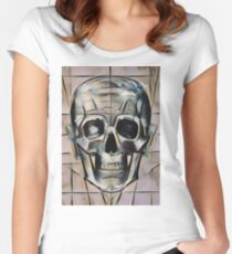 Peach Pop Skull Women's Fitted Scoop T-Shirt