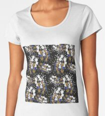 Black  Sparks Inkblot Yellow Blue Women's Premium T-Shirt