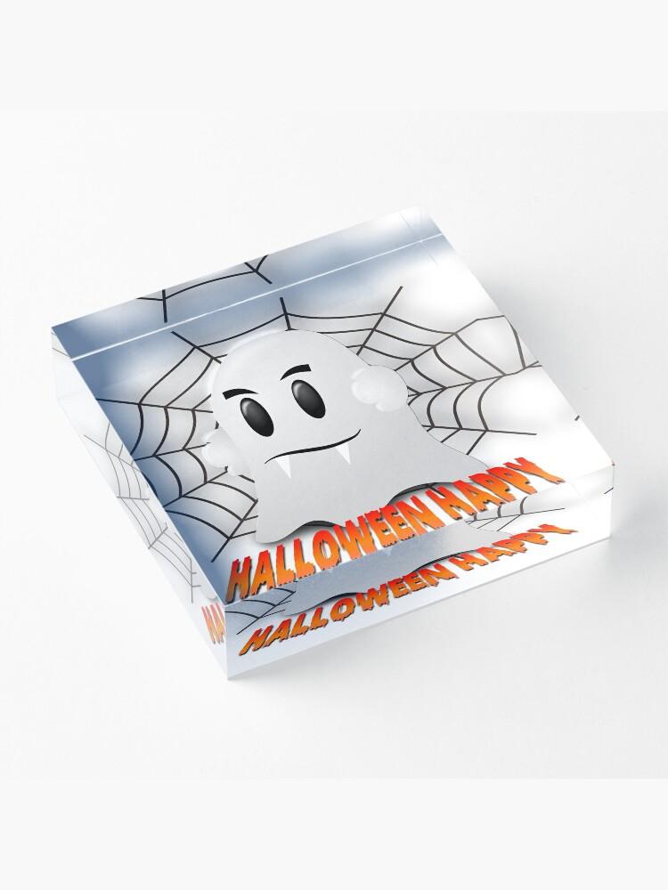 Alternative Ansicht von Happy Halloween-Geist Acrylblock