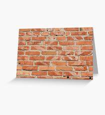 Brick wall. Old wall. Greeting Card