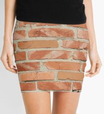 Brick wall. Old wall. Mini Skirt