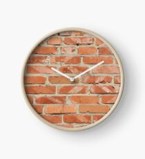 Brick wall. Old wall. Clock