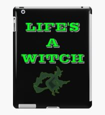 Life's A Witch Funny Halloween Design iPad Case/Skin