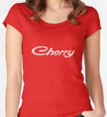 Rustic White Cherry - Datsun Women's Fitted Scoop T-Shirt