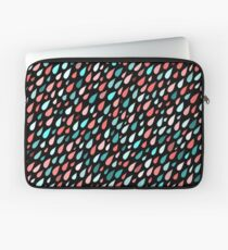 Rainy Day Pattern. Pink and blue Laptop Sleeve