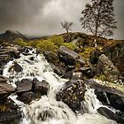 Rhaeadr Idwal Waterfall by Derek Smyth