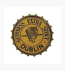 Guinness Bottle Cap Photographic Print