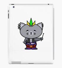 Punk Cat Playing Drums iPad Case/Skin