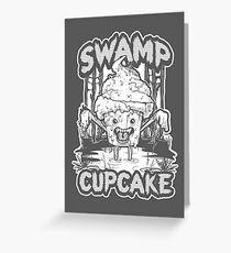 SWAMP CUPCAKE — Halloween vintage horror 80's Greeting Card