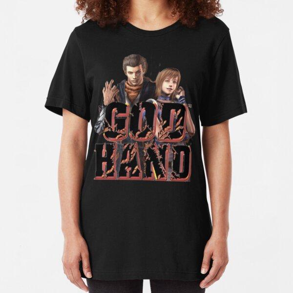 Let God Give You a Hand Women/'s T-Shirt Religious Catholic Jesus Bible Shirt