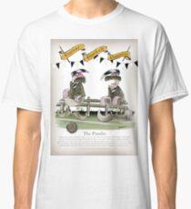 Vintage Football Pundits Black and White Team Classic T-Shirt