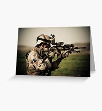 Soldier with his gun Greeting Card