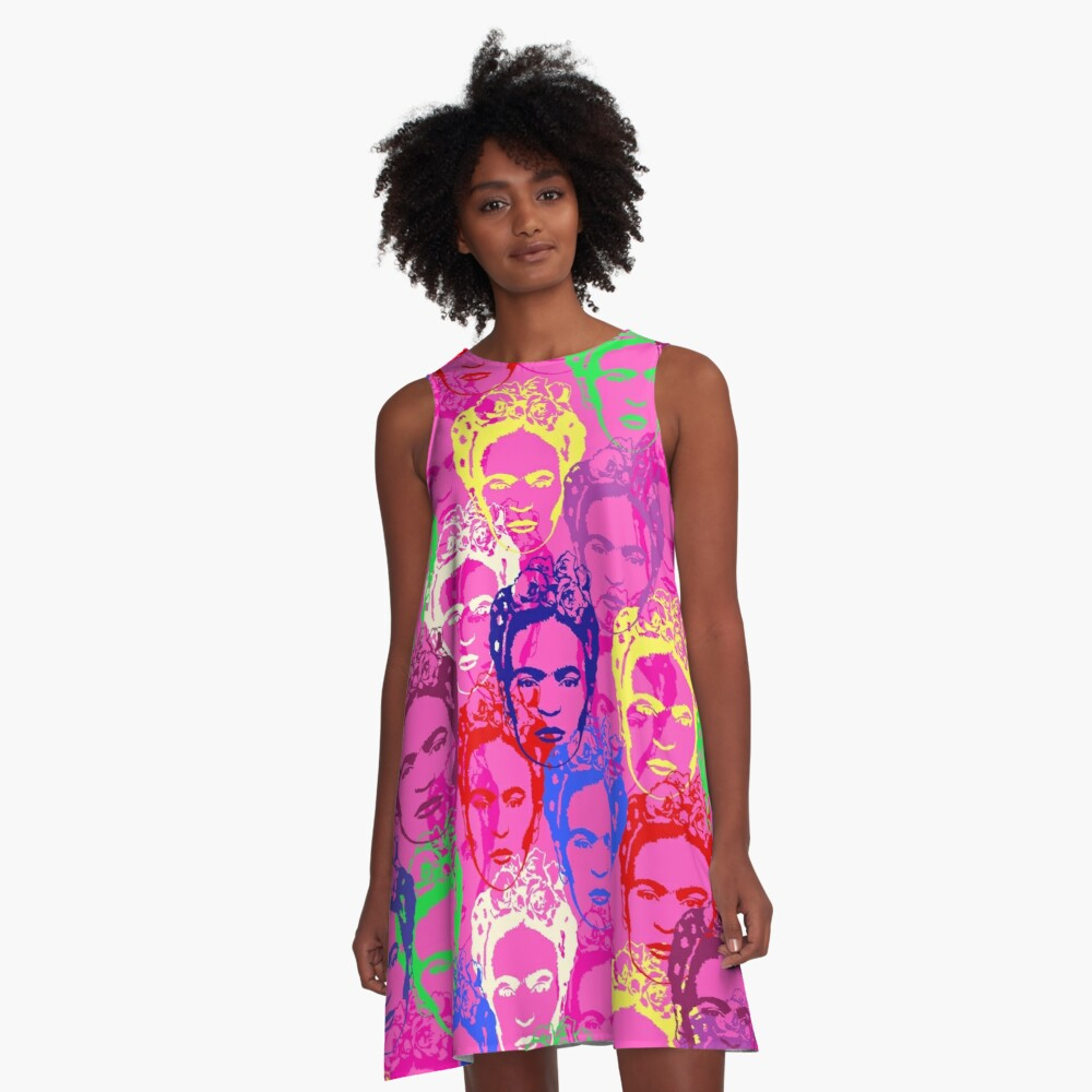 Frida Kahlo A-Line Dress Front
