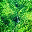 Hanalei Twin Falls, Kauai, Hawaii by Caleb Ward
