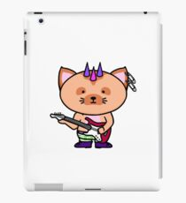 Punk Cat Playing Bass iPad Case/Skin