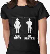 Your Sister, My Sister - Military Women's Fitted T-Shirt