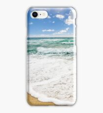 sea ​​waves breaking on the sandy beach iPhone Case/Skin