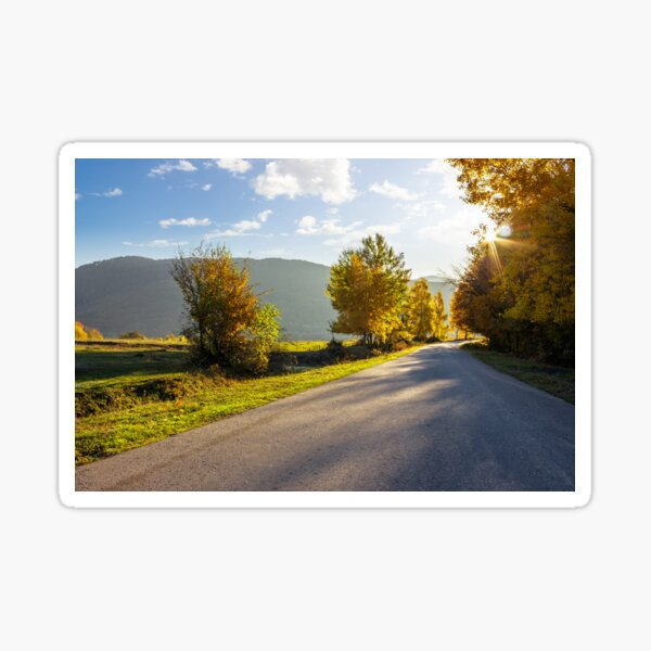 road going to mountains Sticker