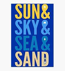 Sun Sky Sea And Sand Photographic Print