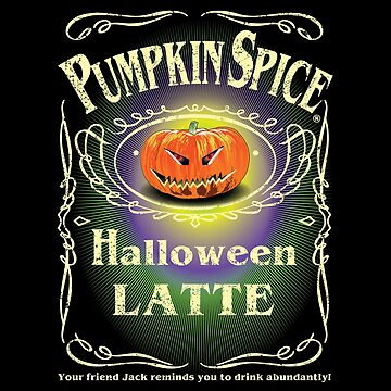 PUMPKIN SPICE HALLOWEEN LATTE  by karmadesigner
