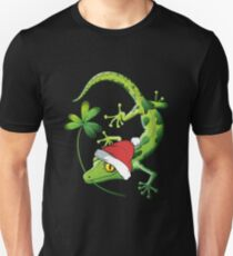 Lizard christmas gifts shirt with hat T-Shirt