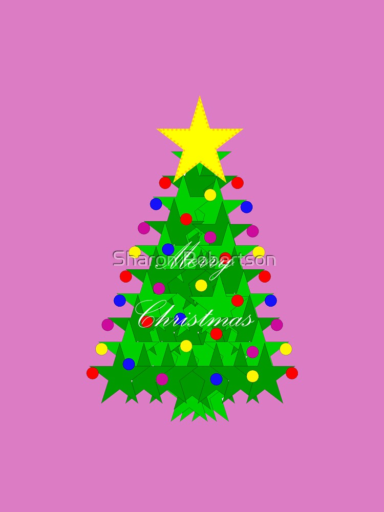 Purple Christmas Star Tree by Sharon Robertson