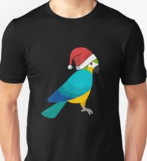 Parrot christmas gifts shirt with hat T-Shirt