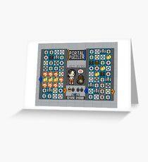 Portal Puzzler Greeting Card