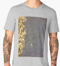 Autumn Color Leaves On Asphalt Men's Premium T-Shirt