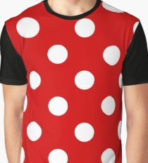 Red and White polka dots   Halloween Outfit Graphic T-Shirt