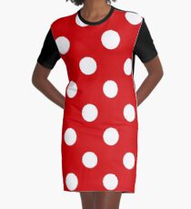 Red and White polka dots | Halloween Outfit Graphic T-Shirt Dress