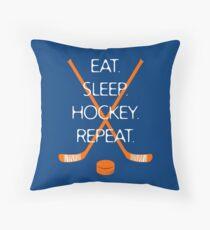 Eat. Sleep. Hockey. Repeat. Throw Pillow