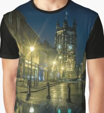 Stockport Greater Manchester by night Graphic T-Shirt