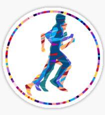 Runner in Motion Sticker