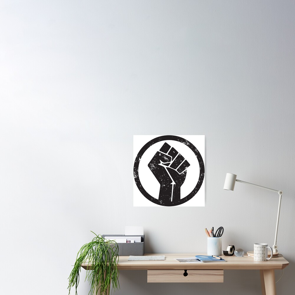 BLACK POWER RAISED FIST Poster