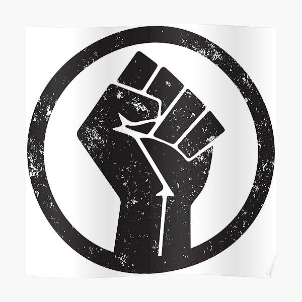 BLACK POWER RAISED FIST Poster