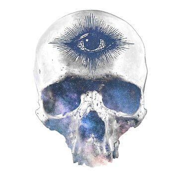 Galaxy skull by -Pano