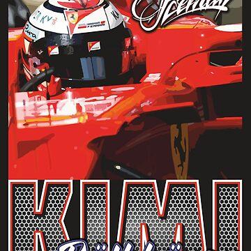 Kimi Raikkonen | F1 by SpeedFreakTees