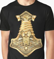 Mjolnir - The Hammer of Thor, Norse God of Thunder Graphic T-Shirt