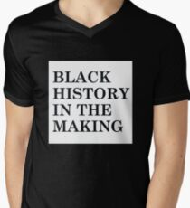 BLACK HISTORY IN THE MAKING- White Background  T-Shirt