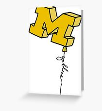 Michigan greeting cards redbubble michigan balloon greeting card m4hsunfo