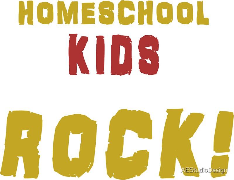 Homeschool Kids Rock! T-Shirt/ Wall Art/ \