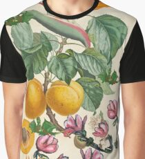 Apricot And Flowers With Dragons Graphic T-Shirt