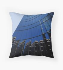 Reflections From Across The Sidewalk Throw Pillow